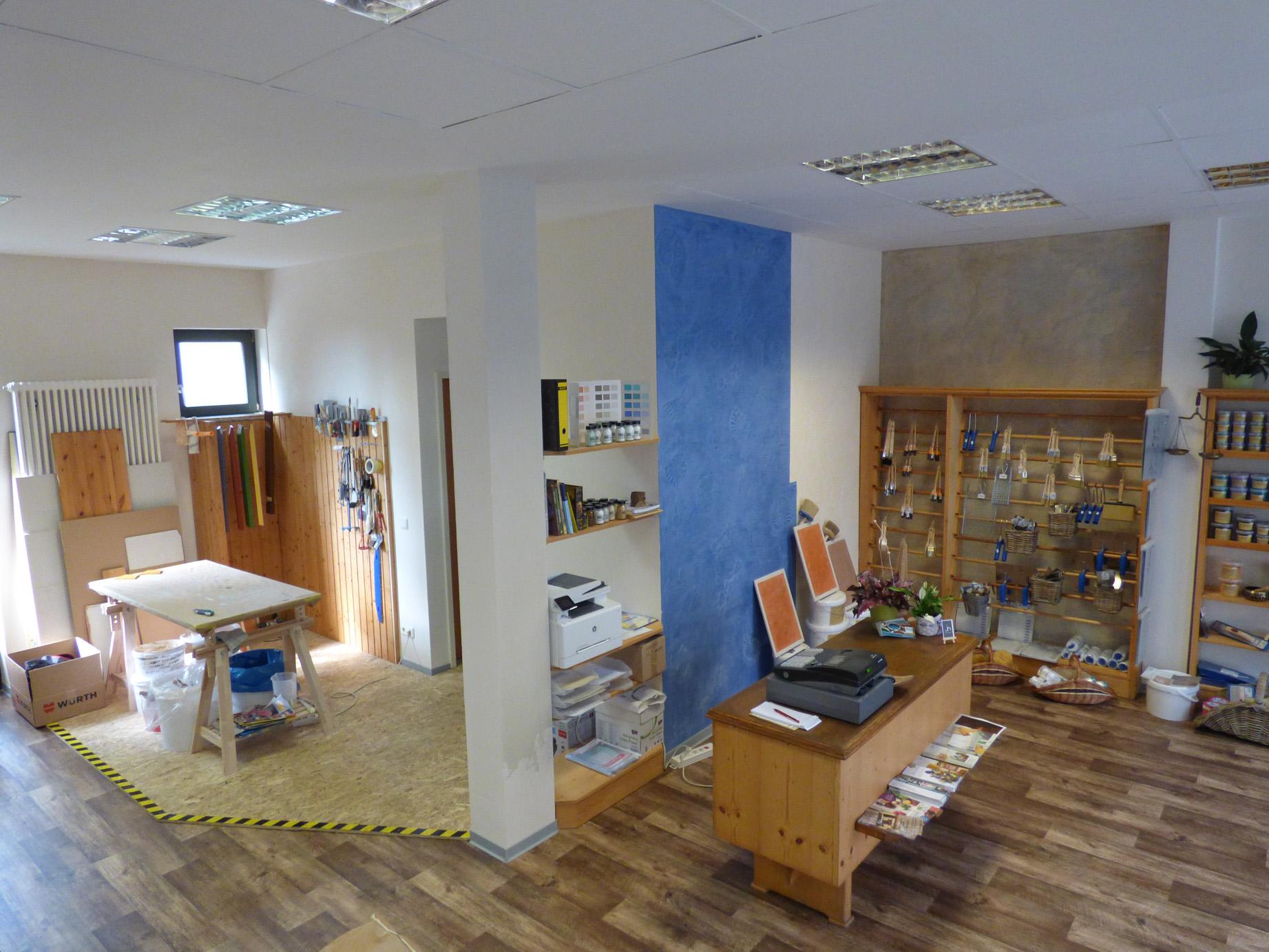 Verkaufsraum und Werkstatt