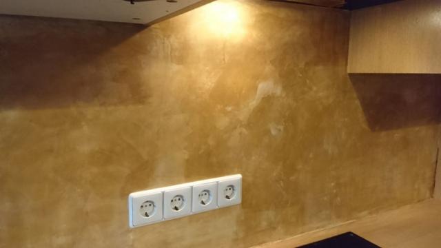 Küche Fliesenspiegel nachher
