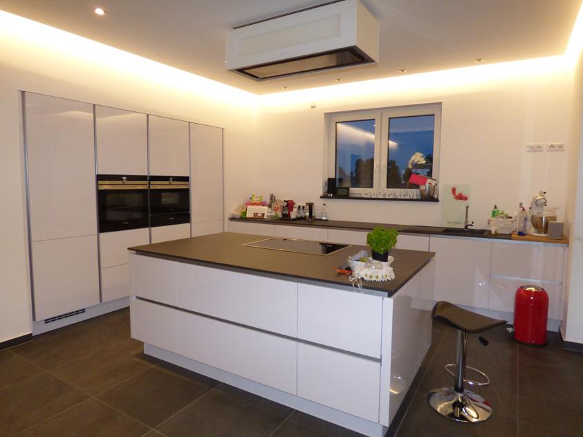 Küche mit Marmormehlfarbe und Stucco Feinspachtel modern ...
