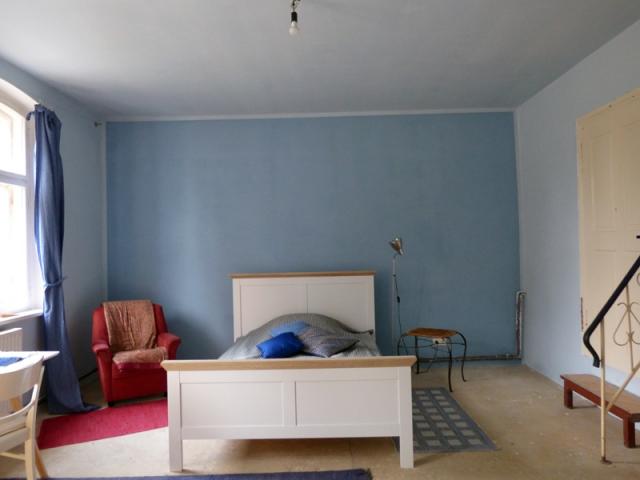 Altes Bauernhaus mit Kasein Marmormehlfarbe 2