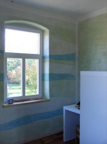 Kinderzimmer mit Kasein Marmormehlfarbe