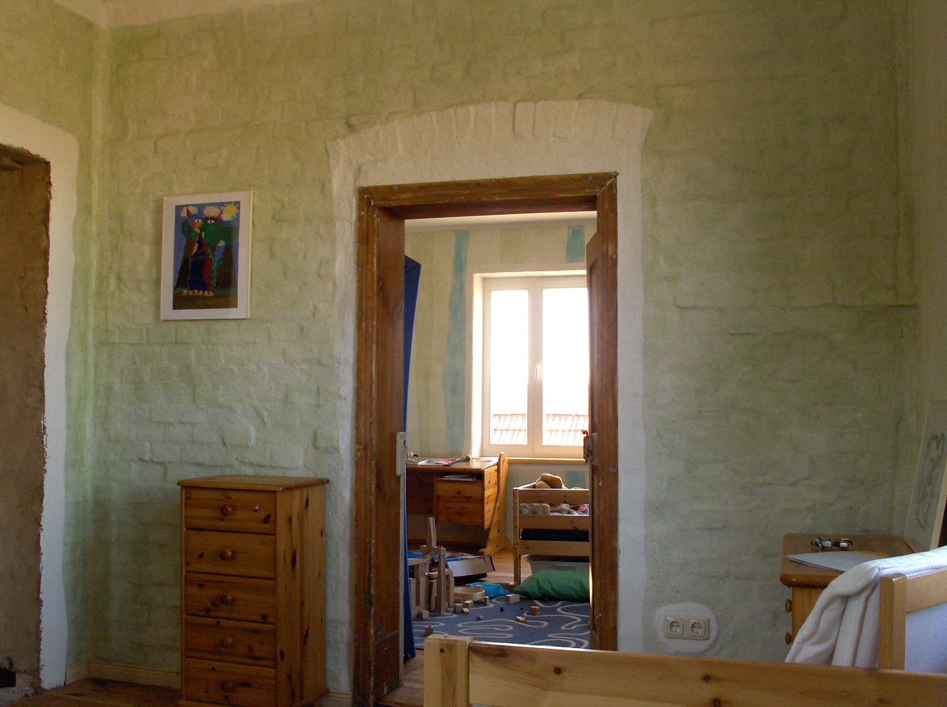 Kinderzimmer mit Kasein Marmormelfarbe 2