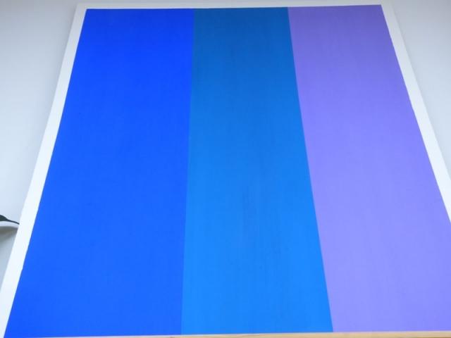 Beispiel Volltonbindemittel Blautöne