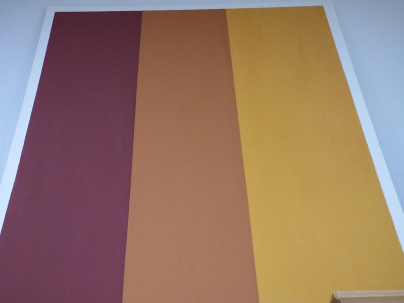 Beispiel Volltonbindemittel Rot und Orange