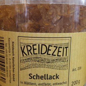 Schellack in Blättern