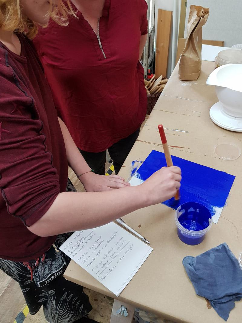 Workshop Pigmente und Farbe anrühren 2