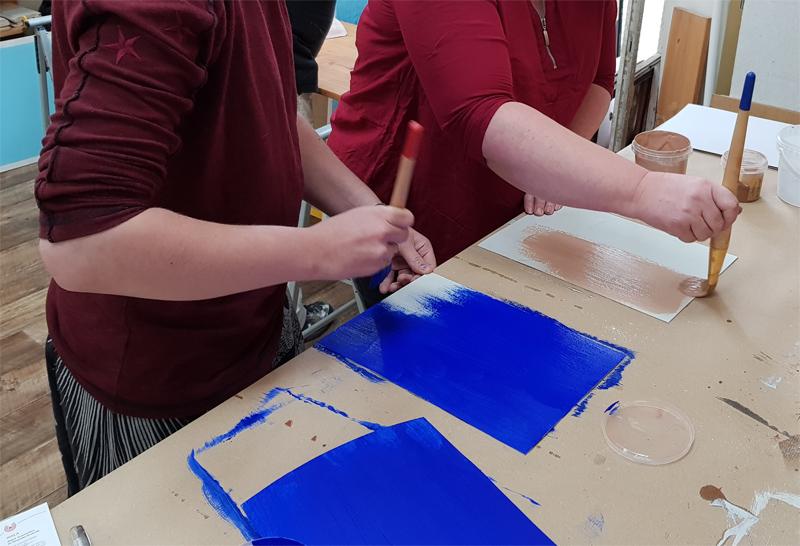 Workshop Pigmente und Farbe anrühren