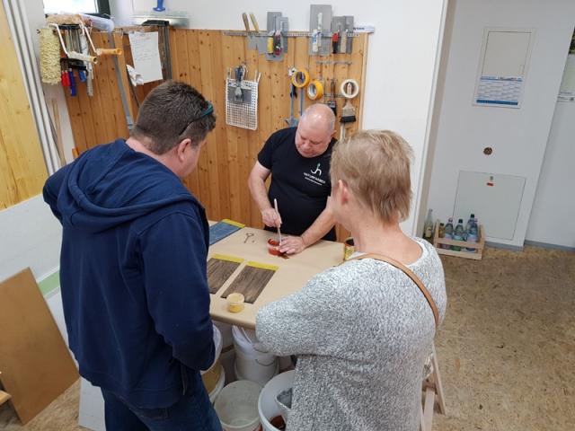 Workshop kreative Holzoberflächen